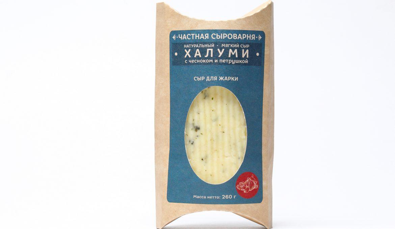 Мягкий Сыр Халуми с Чесноком и Петрушкой